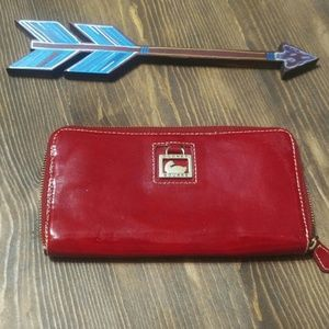 Dooney & Burke Red Patent Leather Wallet